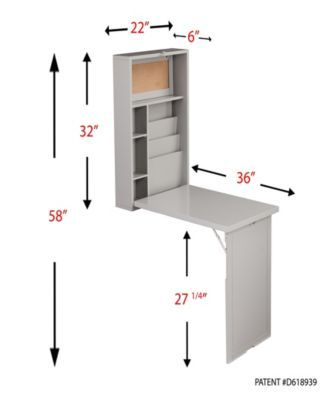 Southern Enterprises Jaqua Fold Desk Amp Reviews Furniture Macy S In 2020 Wall Mounted Desk