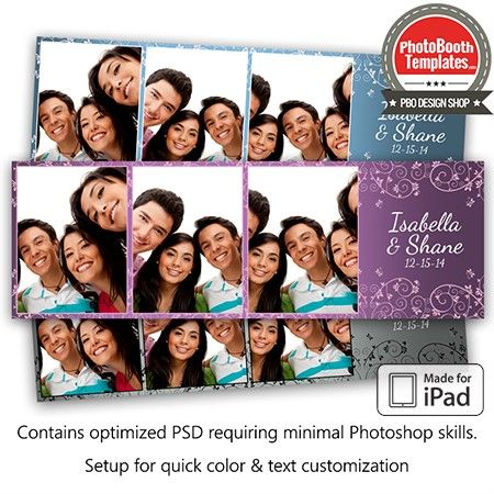 Classic Lace Postcard Ipad Photo Booth Template Photo Booth