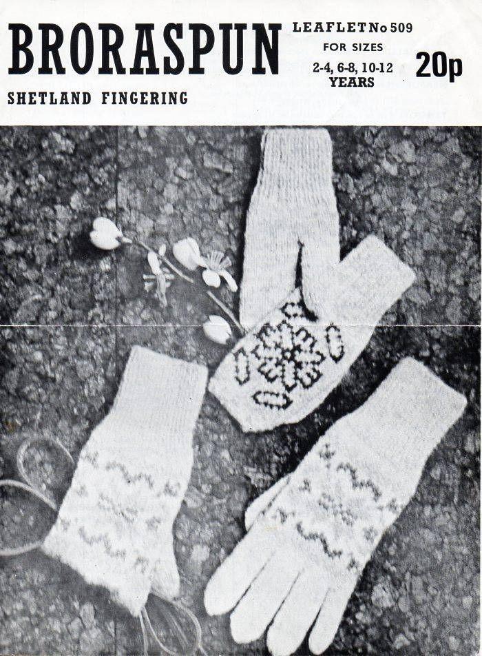 Childrens fair isle gloves mitts fingerless gloves knitting pattern ...