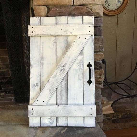Mini barn door wall hanging wood shutters barn door for Hanging barn door in house