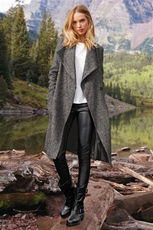 Buy Tweed Waterfall Coat from the Next UK online shop | My quality ...