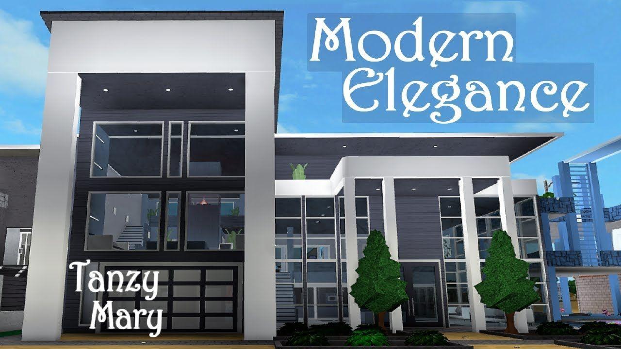 Bloxburg Modern Elegance Family Home Speed Build Walk Through