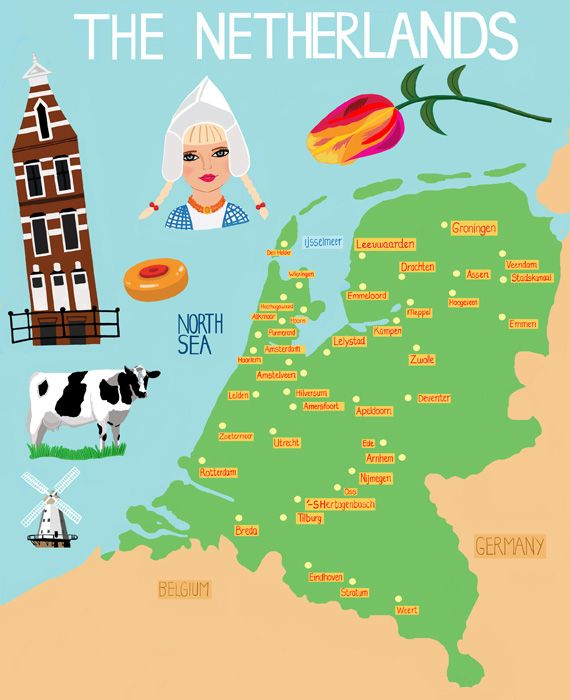Netherlands Map (visual of the trip from amsterdam to leiden) (unit ...