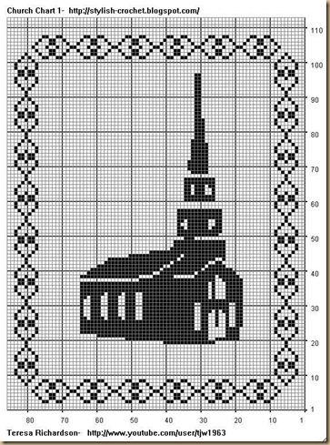 001 church | cross stitch | Pinterest | Stiche, Muster und Häkeln