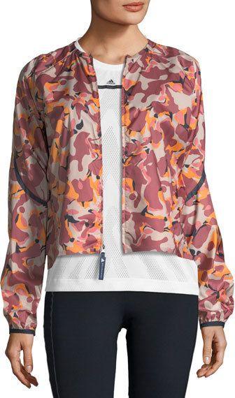 16358712c4 adidas by Stella McCartney Adizero Printed Lightweight Running Jacket