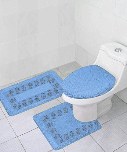 Gorgeoushomelinendifferent Colors 3 Piece Embroidery Bathroom Rug