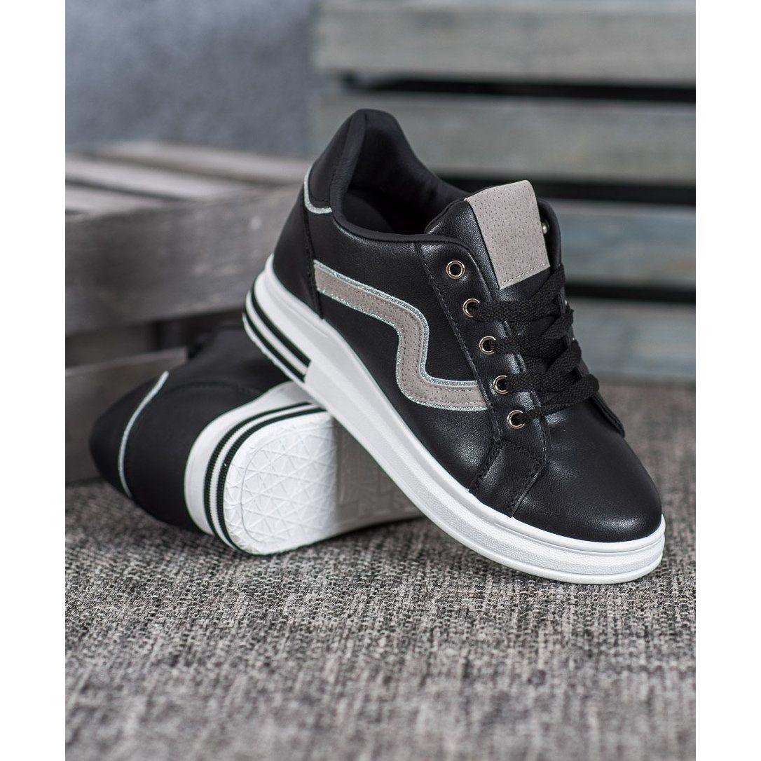 Shelovet Buty Sportowe Z Ukryta Koturna Czarne Vans Sneaker Sneakers Vans Old Skool Sneaker