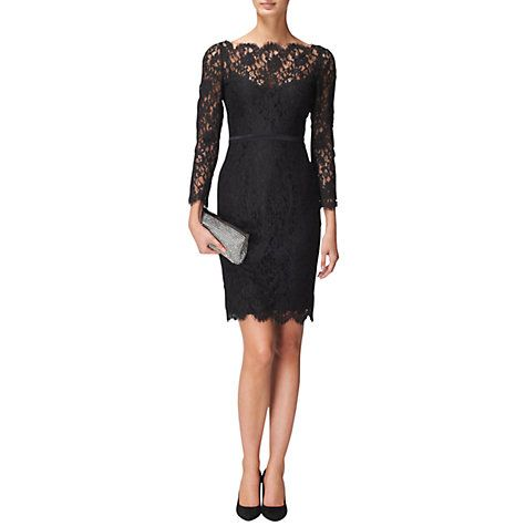 Buy Jaeger Scalloped Lace Dress Black Online At Johnlewis My