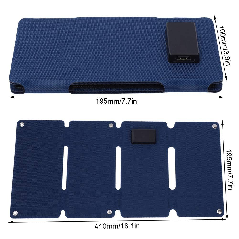 Keenso Multi Function Solar Panel 12w 5v Portable Foldable Solar Charger Charging Panel Double Usb Output Blue In 2020 Solar Charger Solar Panels Airsoft Battery