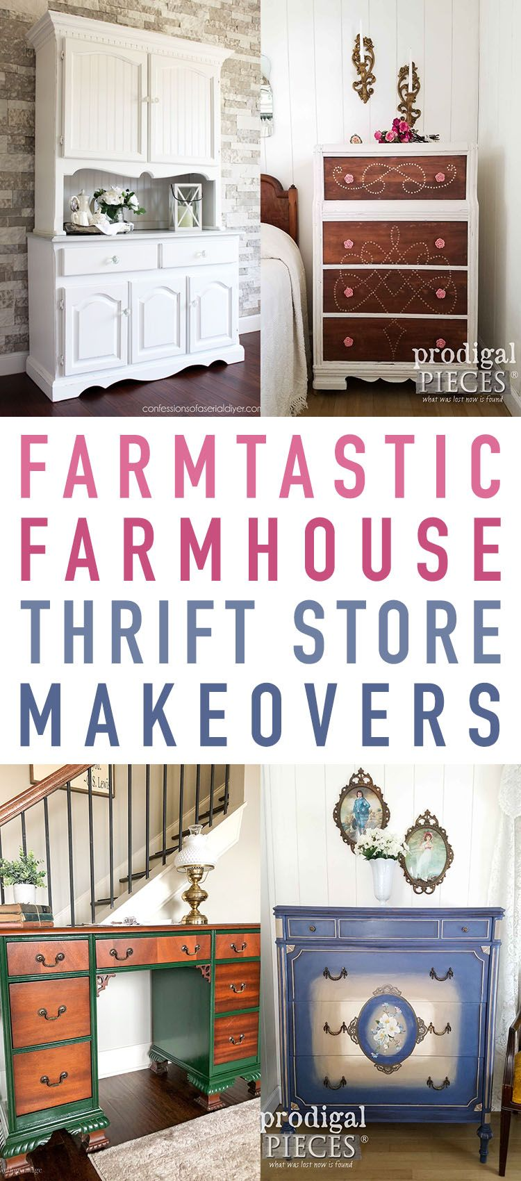 Farmtastic Farmhouse Thrift Store Makeovers The Cottage Market Thrift Store Makeover Thrift Store Crafts Furniture Makeover