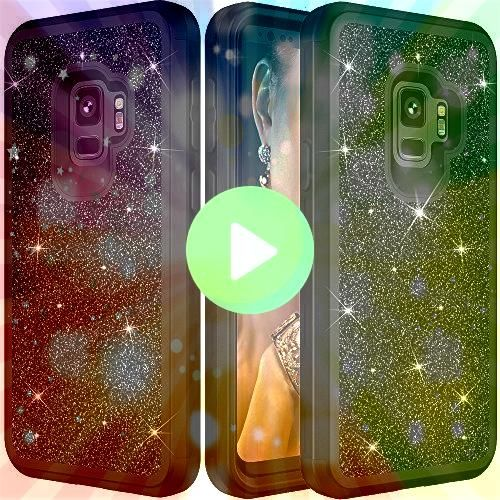 S9 Plus Protective CaseAuker Heavy Duty Dual Layer Bling Glitter Shockproof Hard  Gadgets For Women around Japanese Gadgets 2018 another Gadgets Save The World soon Top G...