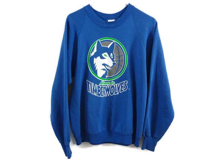 Vintage 80s Minnesota Timberwolves Crew Neck Sweatshirt - Large - Blue and  Green - NBA Basketball - Sports Jerseys - by BLACKMAGIKA on Etsy 3c249e8fa