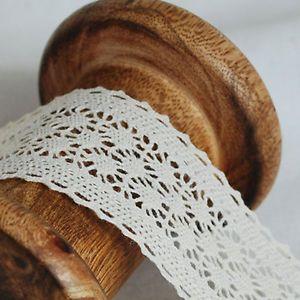 Cream Double Edge CL15 Crochet Guipure Cotton Lace Trim 3.5cm Wide