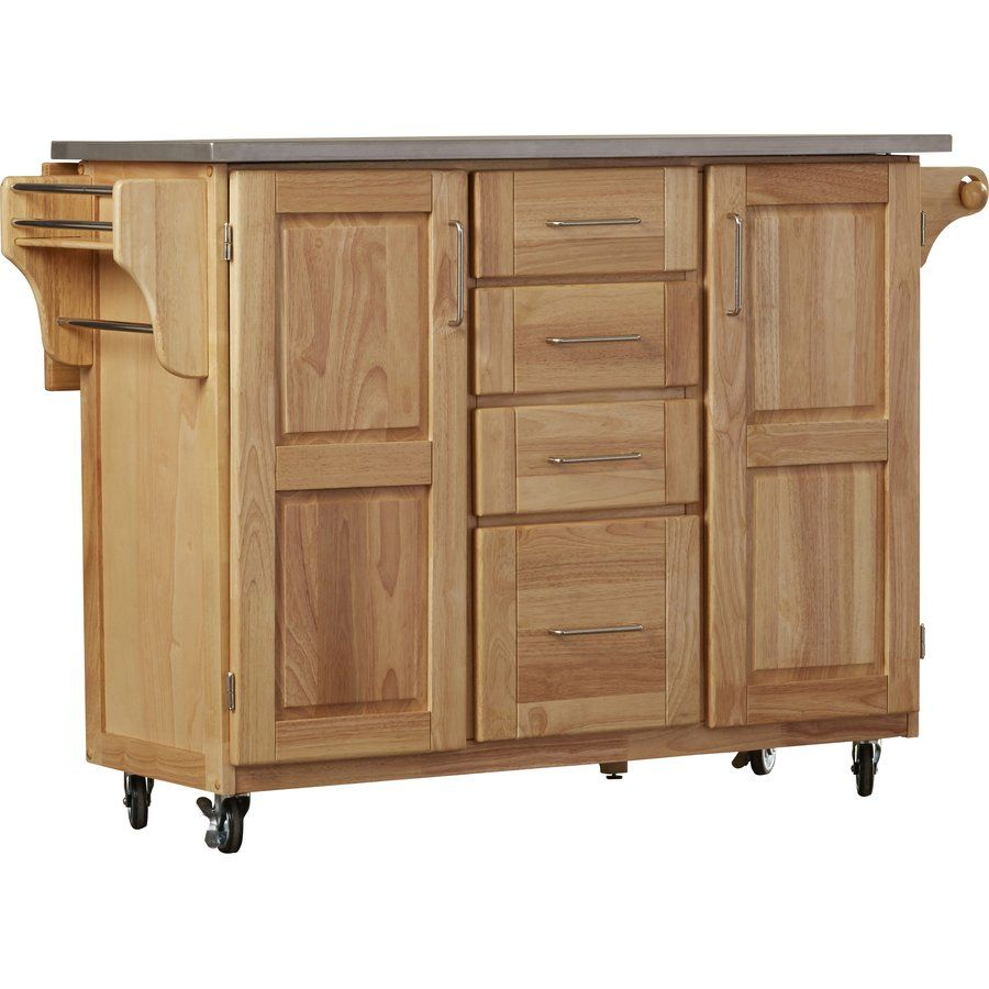 Menthe Kitchen Island With Stainless Steel Top Kitchen Islands Carts Kitchen Island With Seating Rolling Kitchen Island