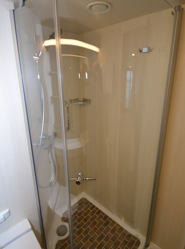 First Look Inside The Years Hottest New Cruise Ship Cabin - Cruise ship shower