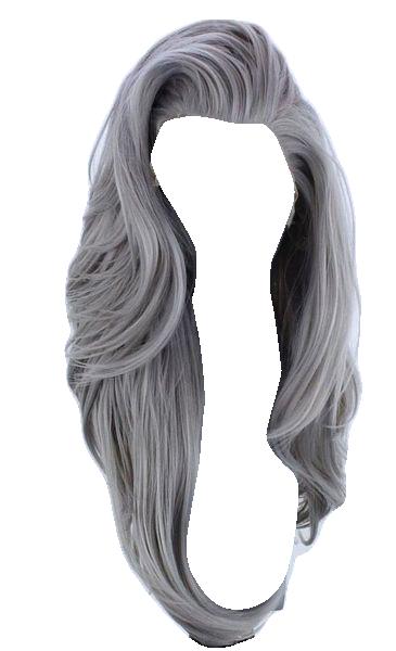 Long Grey Wavy Hair Doll Hair Anime Hair Hair Png