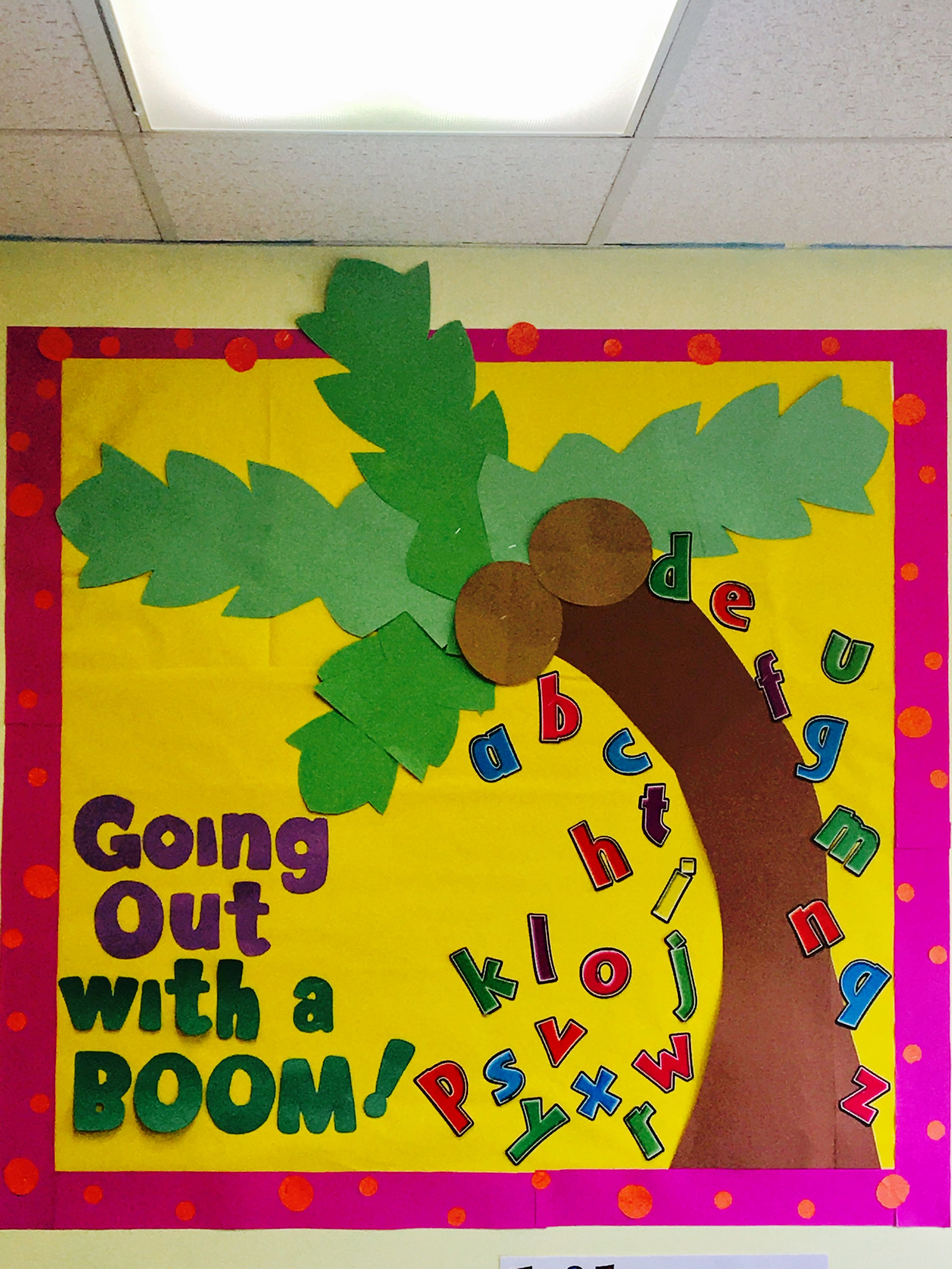 End Of The Year Bulletin Board Chicka Chicka Boom Boom