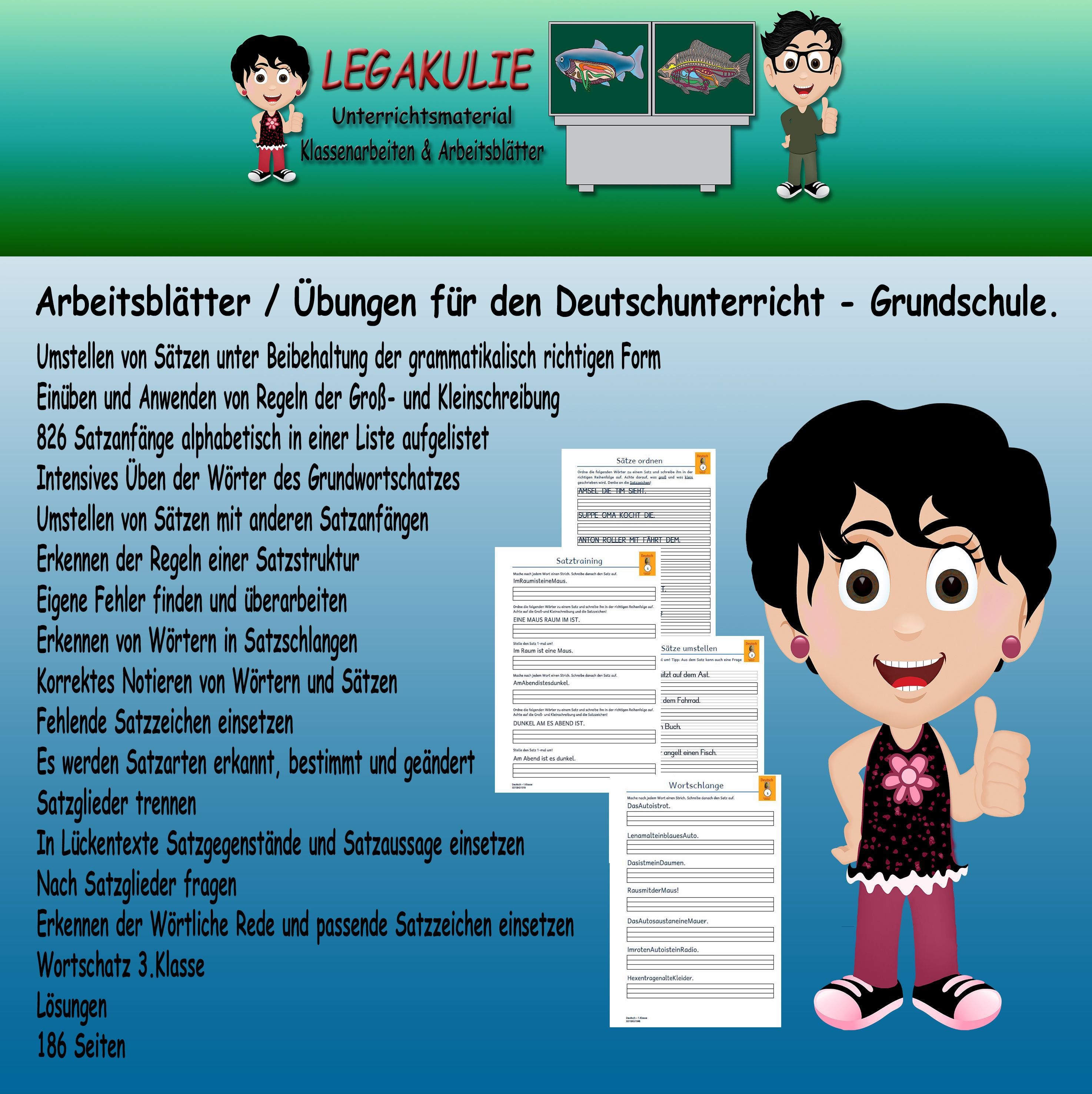 3.Klasse Satzbau Satzgestaltung | Pinterest | Satzbau ...