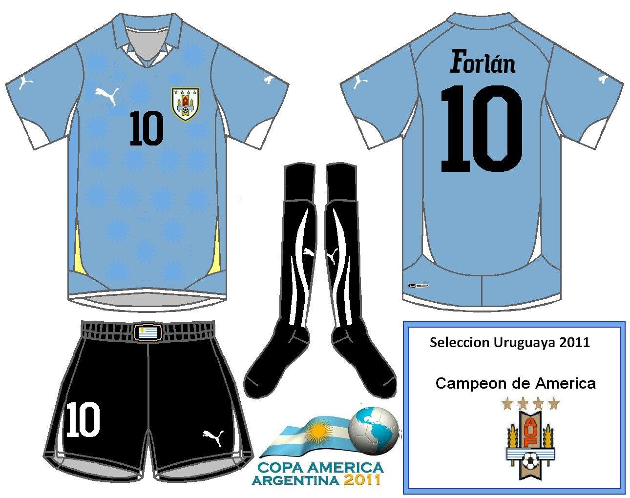 e7f04a31860 Uruguay home shirt for the 2011 Copa America. Football Fashion, Uruguay