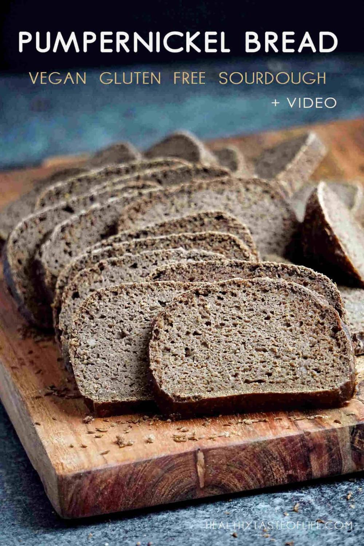 Homemade Gluten Free Sourdough Pumpernickel Bread Vegan Whole Grain No Yeast No Oil No Xanthan Gum Thi In 2020 Gluten Free Sourdough Sourdough Rye Bread Recipes