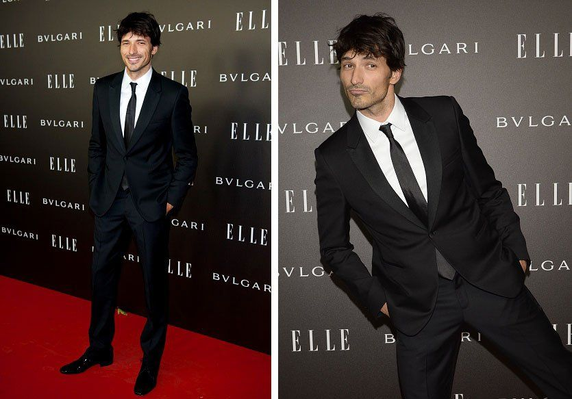 Andres Velencoso Segura Wears Emporio Armani to Elle Style Awards