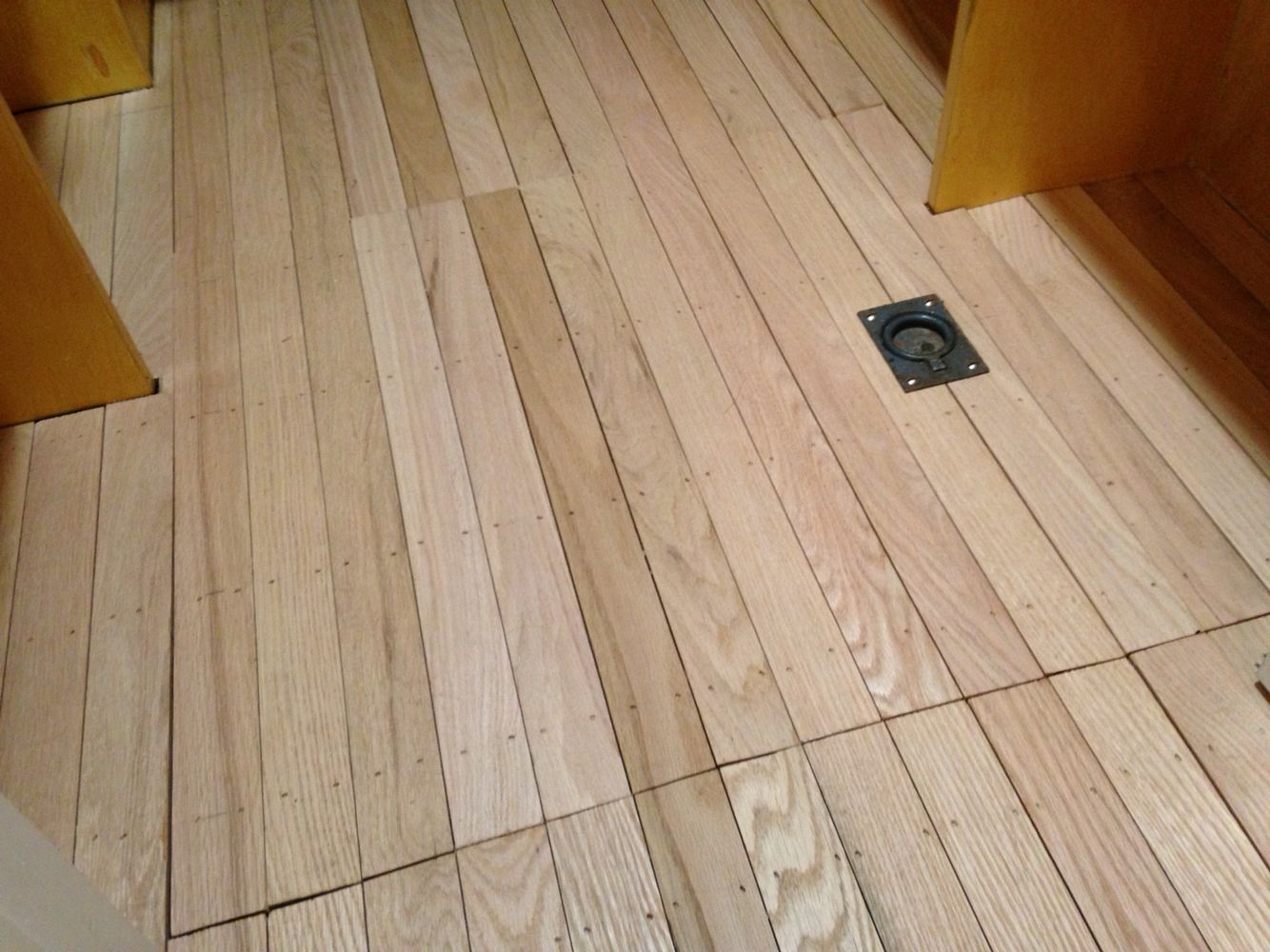 Crawl Space Access That Disappears Into The Hardwood In