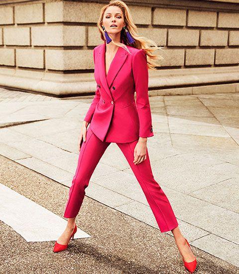 2ae28007661f El Corte Inglés traje rosa, pantalón y chaqueta mujer anuncio | Mis ...