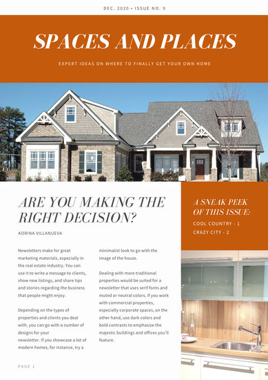 Customize 33 Real Estate Newsletter Templates Online Canva Canva Newsletter Templates Selling House Real Estate