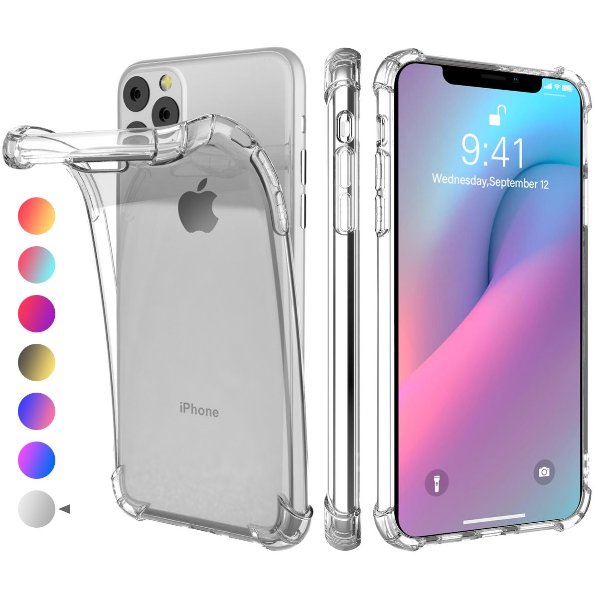 Shockproof And Anti Fall Iphone 11 6 1 Inch Mobile Phone Case Tpu Gradient Color Mobile Phone For Iphone 11 6 1 Inches Transparent Color Walmart Com Iphone Iphone 11 Mobile Phone Cases