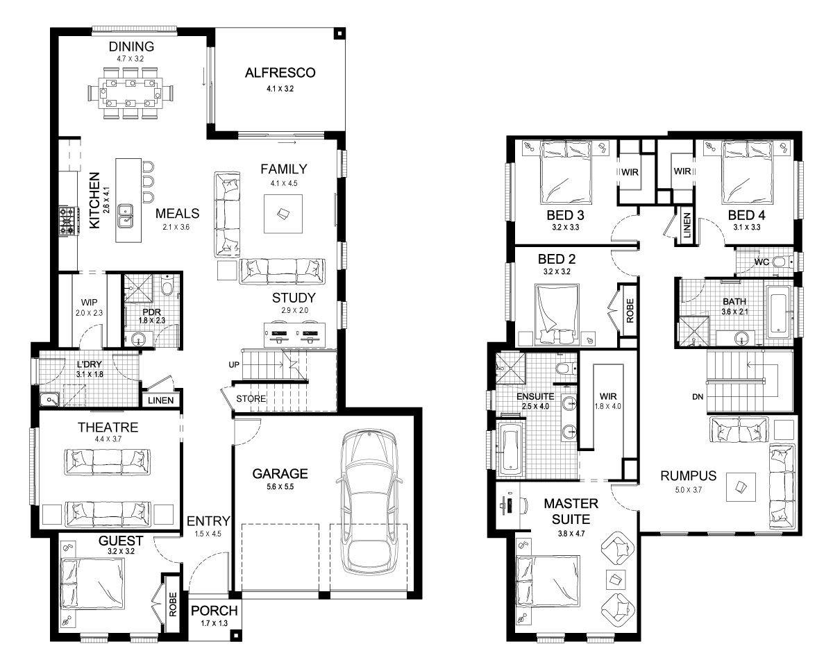 Mayfair 35 Double Level Floorplan by Kurmond Homes