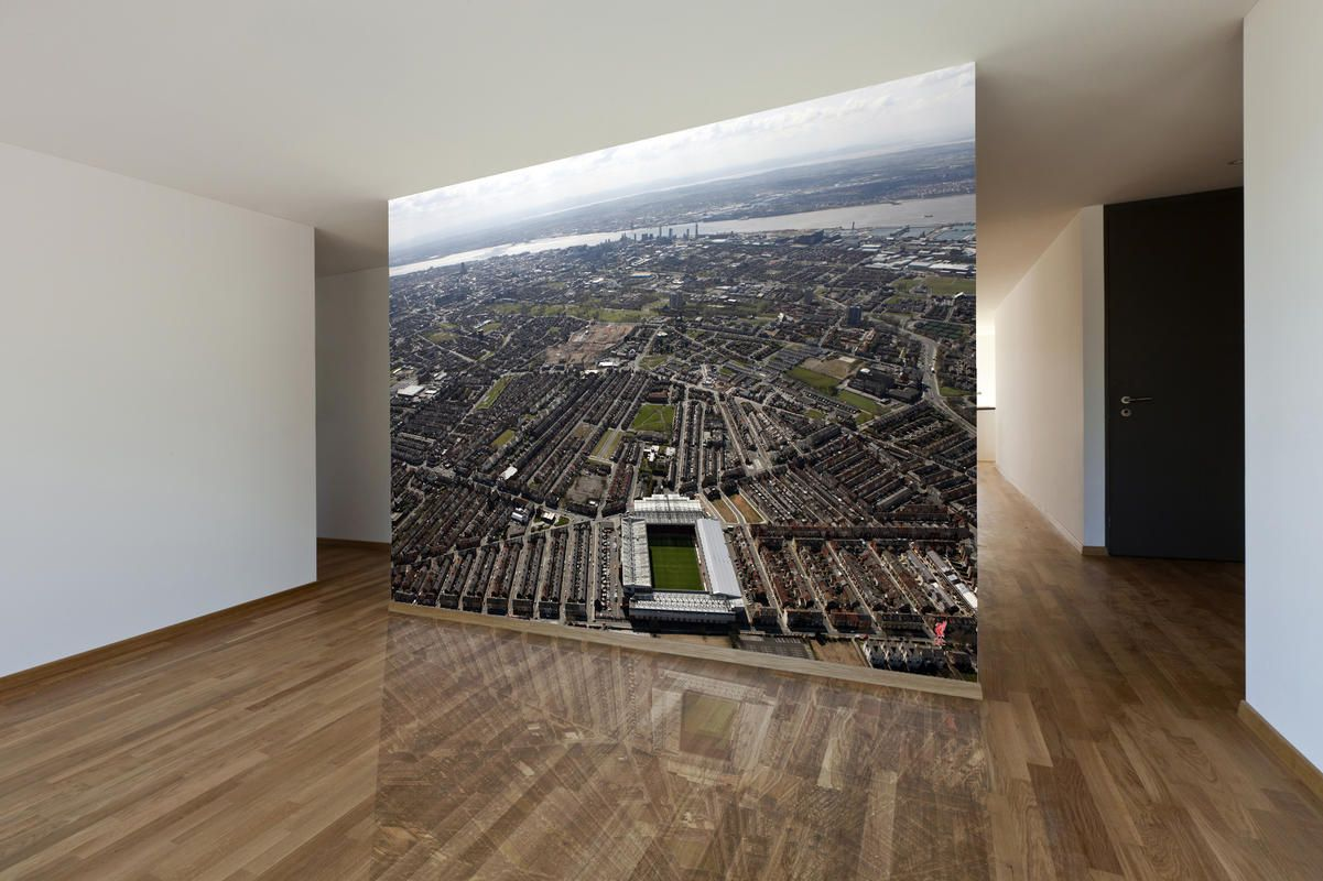 Liverpool Bedroom Wallpaper Anfield And The Mersey Ariel View Liverpool Fc Images Used To