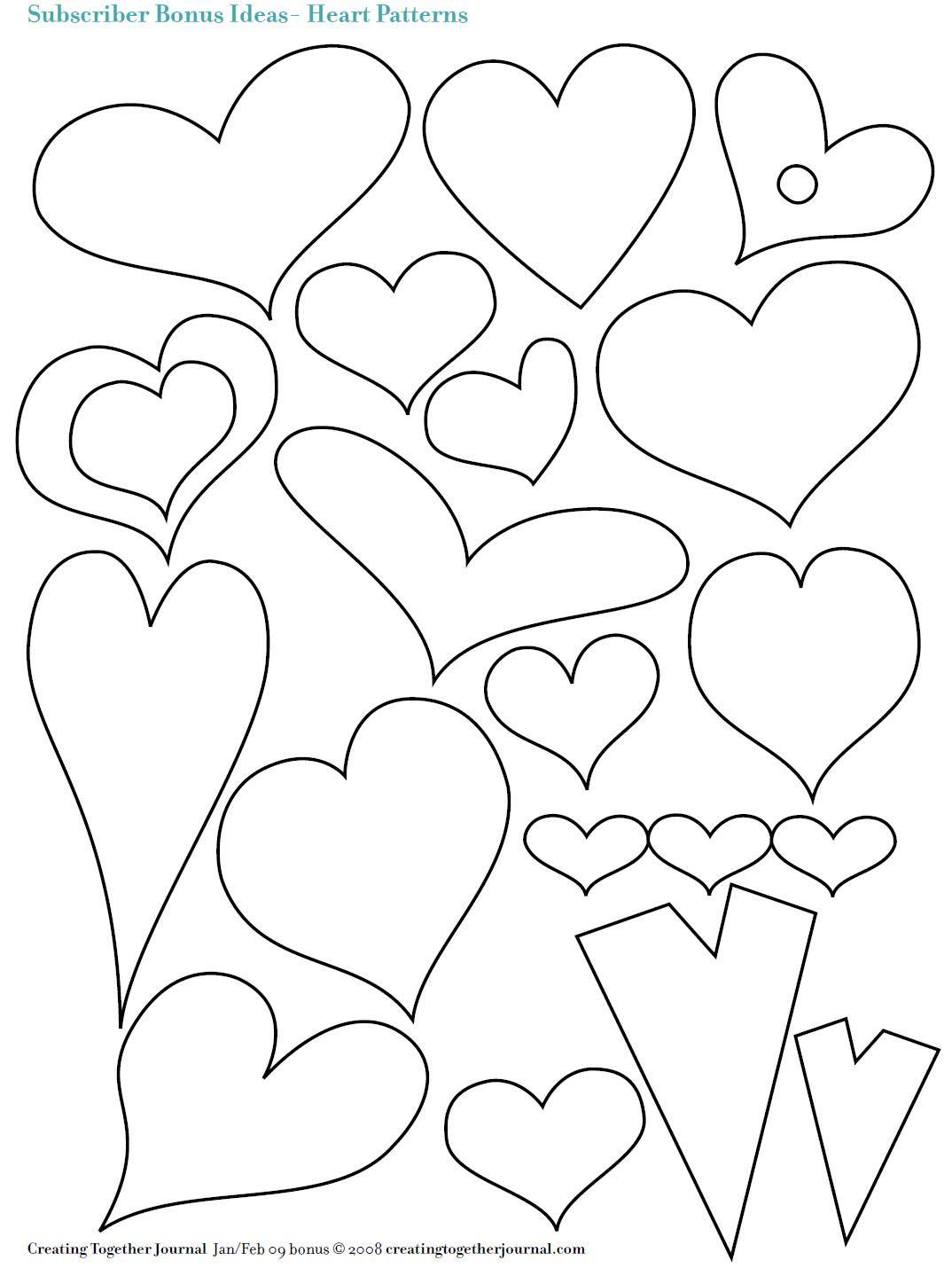 Corazones de diferentes formas y tamaños | Bordados | Pinterest ...