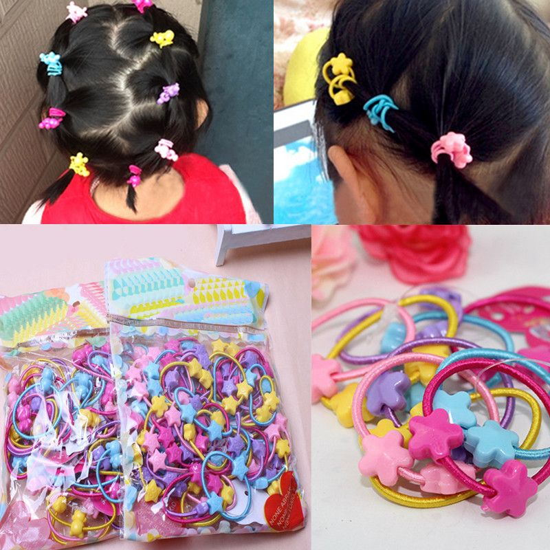 823dc8651d7e 50pcs Pack Cute Children Elastic Hair Bands Kids Hair Ties Baby Rubber Band  Headdress Baby Girls Hair Accessories-in Hair Accessories from Mother   Kids  on ...