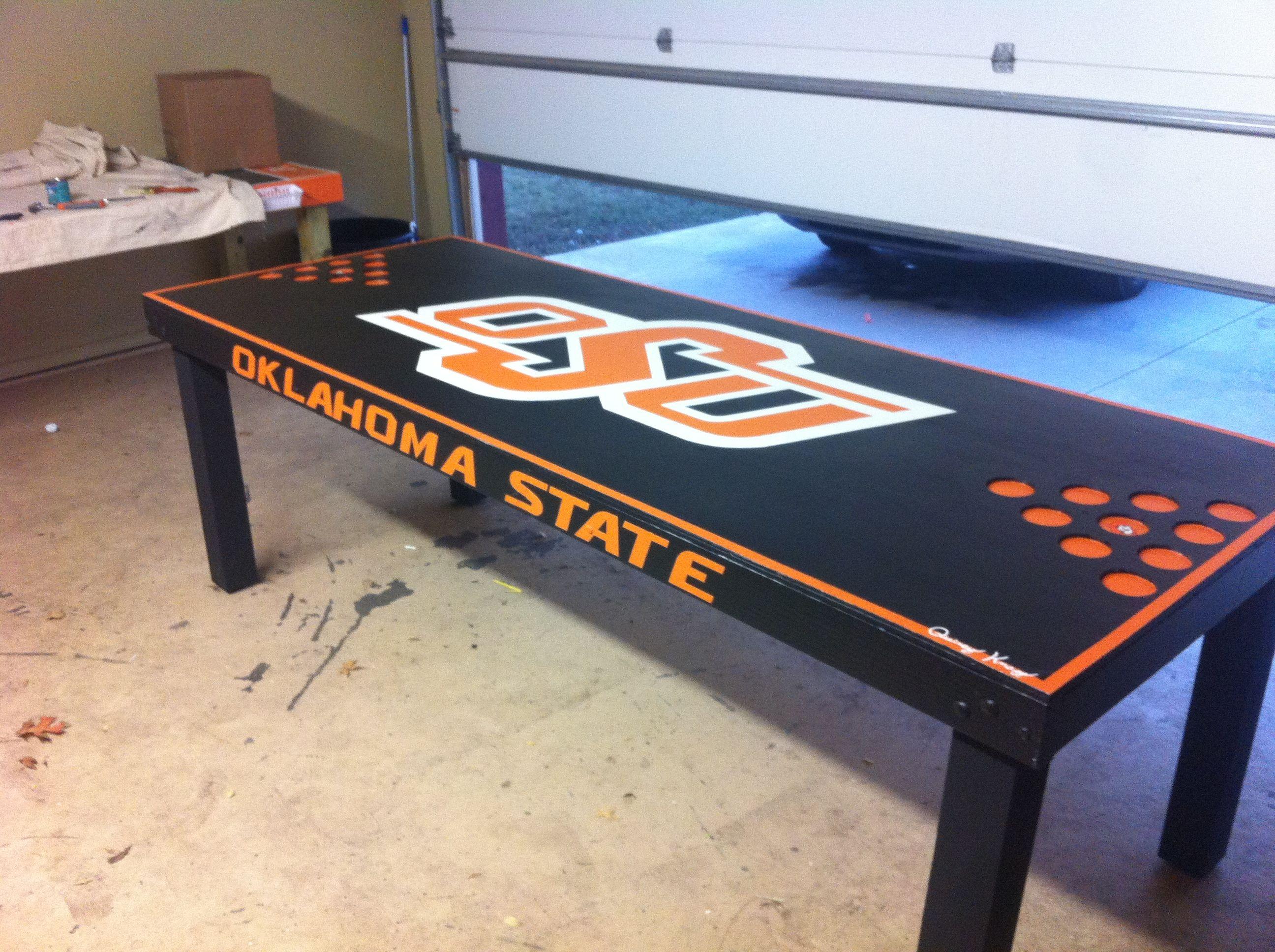 custom black osu beer pong table beer pong pinterest. Black Bedroom Furniture Sets. Home Design Ideas