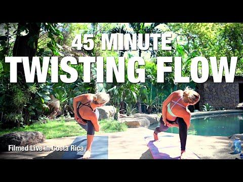 twisting flow yoga class  45 minutes  five parks yoga
