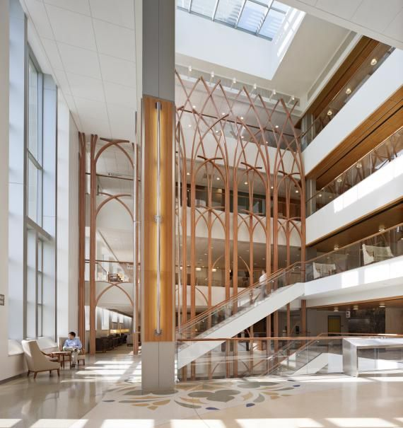 Duke Atrium A Welcoming And Clearly Defined Public Lobby Leading To Multi Level With An Iconic Feature Wall Lit By Skylight Forms How Space