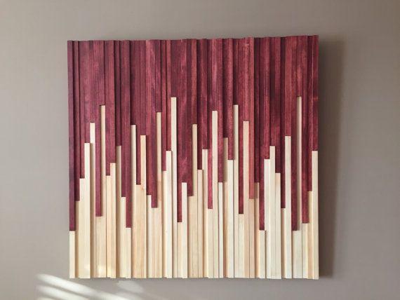Wood Wall Art Wall Art Modern Decor Abstract Art Stick Wall Art Wood Wall Art Wood Wall Design
