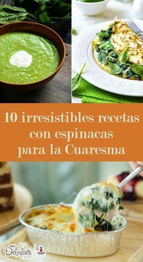 recetas espinacas cuaresma | CocinaDelirante