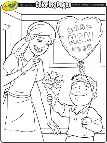 Mothers Day Coloring Page *♧* Wonderful Mom *♧* Pinterest - new turkey coloring pages crayola