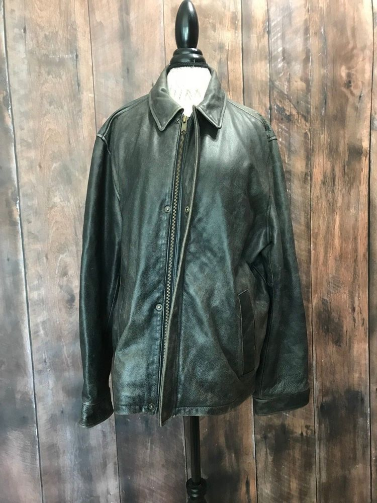 7f9971cd9c88f Eddie Bauer Distressed 100% Genuine Leather Mens Coat Size Large EXCELLENT  #fashion #clothing #shoes #accessories #mensclothing #coatsjackets (ebay  link)