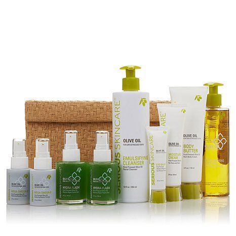 Serious Skincare Olive Oil Blockbuster Kit At Hsn Com Olive Oil Skin Care Skin Care Oils