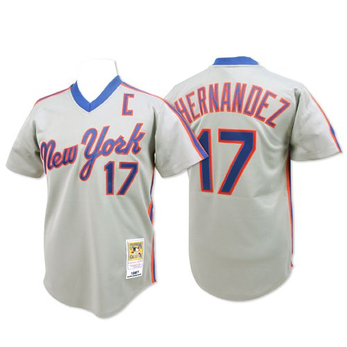 huge selection of f1a40 4b3ff New York Mets Authentic 1987 Keith Hernandez Road Jersey ...