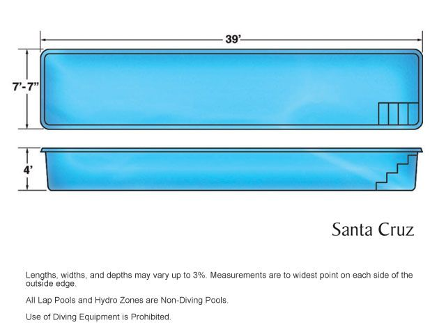 VIking Pools   Lap Pools   Santa Cruz. Have In Azure Blue With LED
