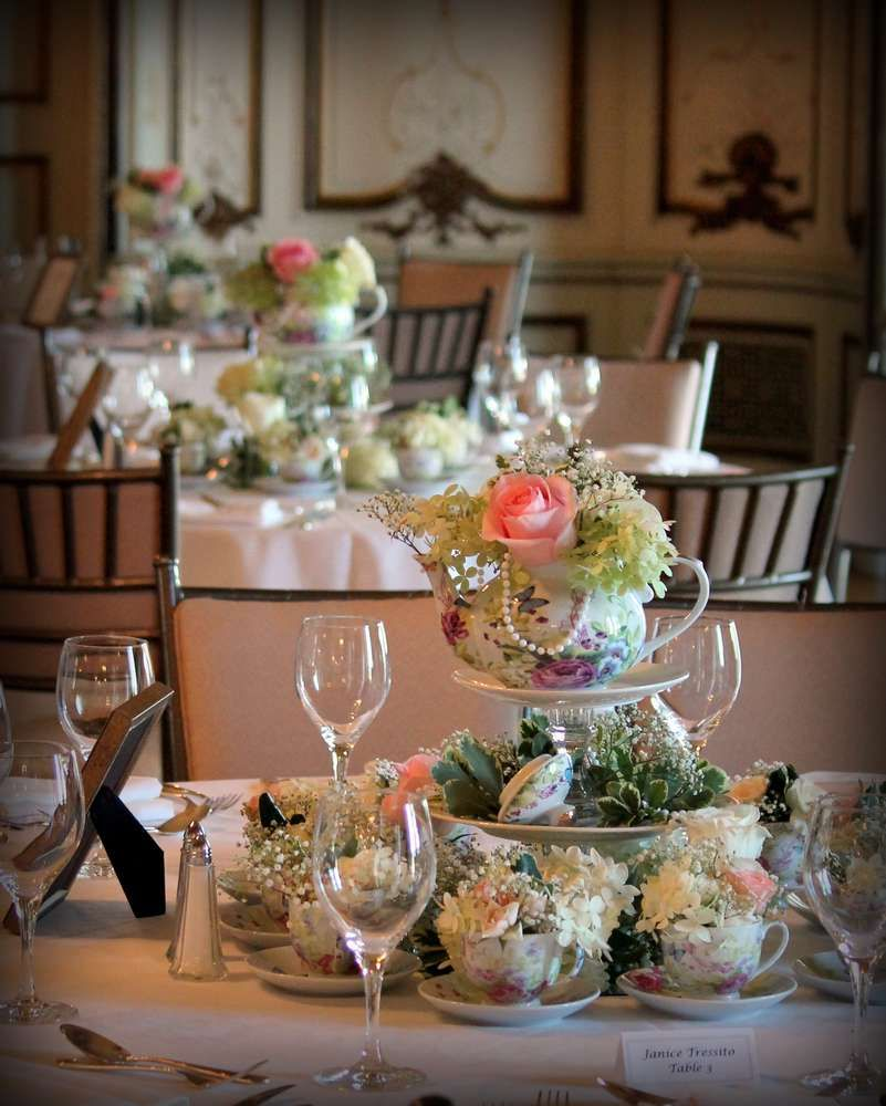 """""""Old, New, Borrowed, And Blue"""" Romantic Tea-themed Bridal"""