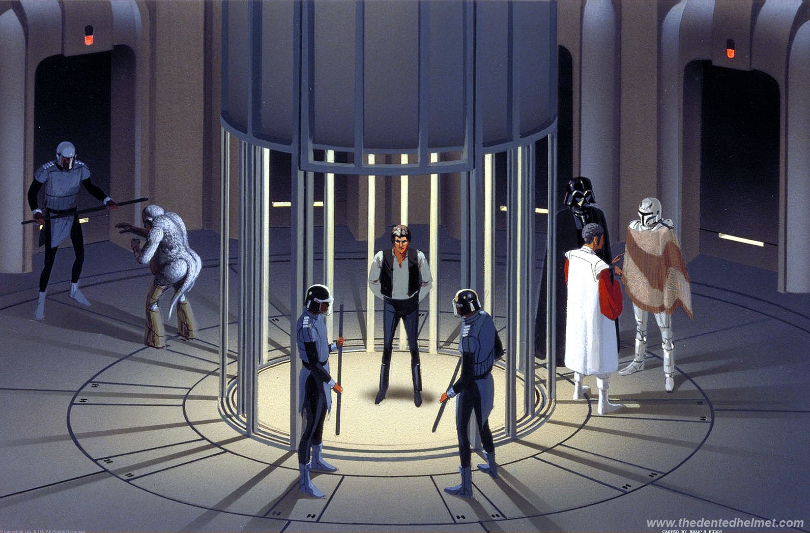 Ralph McQuarrie empire strikes back concept art - jail on cloud city