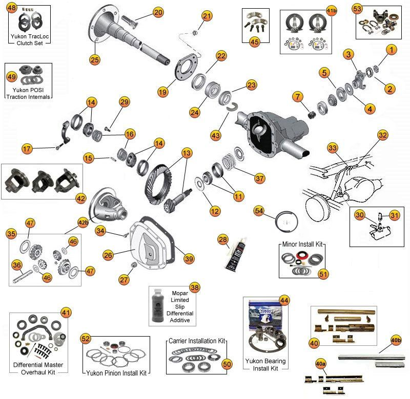 Interactive Diagram - Jeep Wrangler JK Axle Parts | Dana Model 35 ...