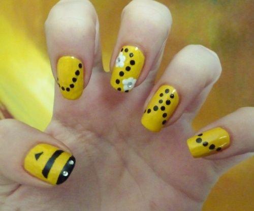 bee nail art - Bee Nail Art Bucket List Pinterest Bees And Bumble Bees