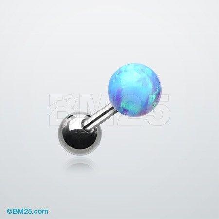 Fire Opal Ball Cartilage Tragus Barbell