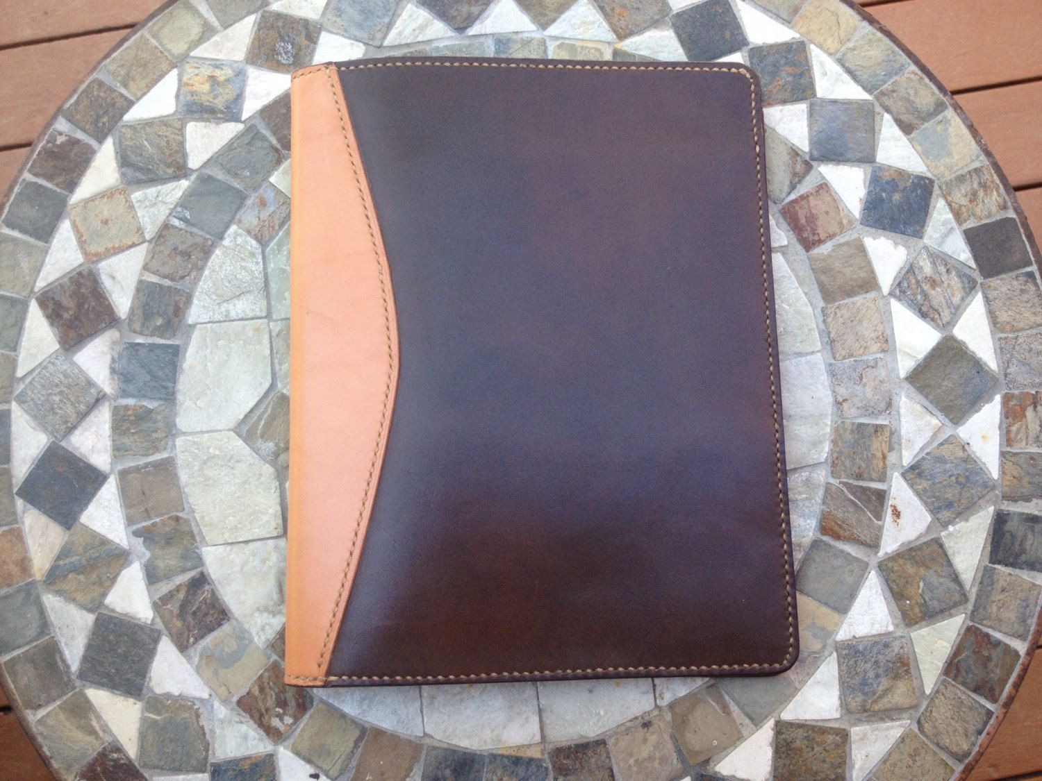 LEATHER PORTFOLIO PADFOLIO by hawksteadleather on Etsy