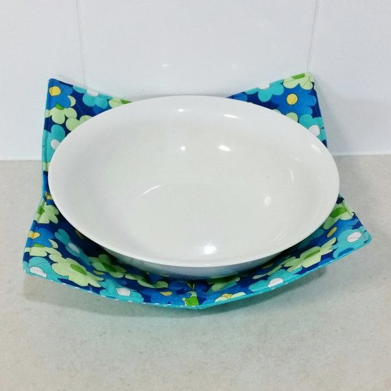 Microwave Bowl Holder reversable in a bold by Handmadebypauline1 & Microwave Bowl Holder reversable in a bold by Handmadebypauline1 ...